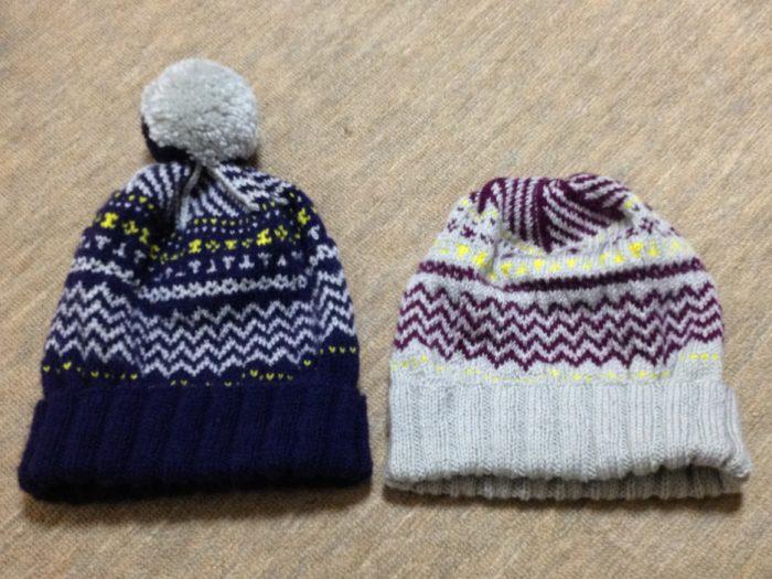 バニラアイス色の帽子-4【冬の日の編みもの】