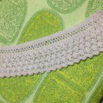 白い花のショール-2【冬の日の編みもの】
