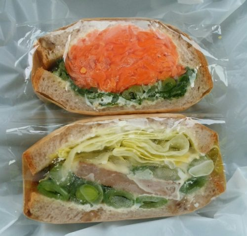 『LAPAIN』のサンドイッチ&チュイルと、手作りチュイル