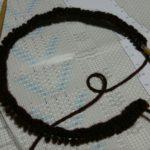 miknitsの茶色アランカーディガン、編み始めました
