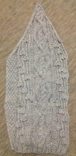 アランの襟つきカーディガン-1【きょうの編みもの】