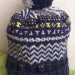 バニラアイス色の帽子-3【冬の日の編みもの】