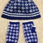 雪だらけの手袋-2【きょうの編みもの】