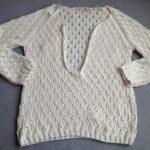 ヘンリーネックセーター-3【編みものともだち】