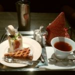 京都のパティスリー『オ・グルニエ・ドール』のカフェで一息