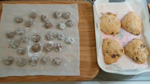 スノーボールチョコクッキーとグラノーラ作りに初挑戦