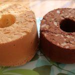 かっぱ橋で購入した17㎝トールシフォン型で、初シフォンケーキを焼きました