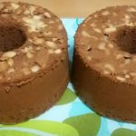チョコシフォンケーキ、ノーマル型とトール型で焼き比べ!