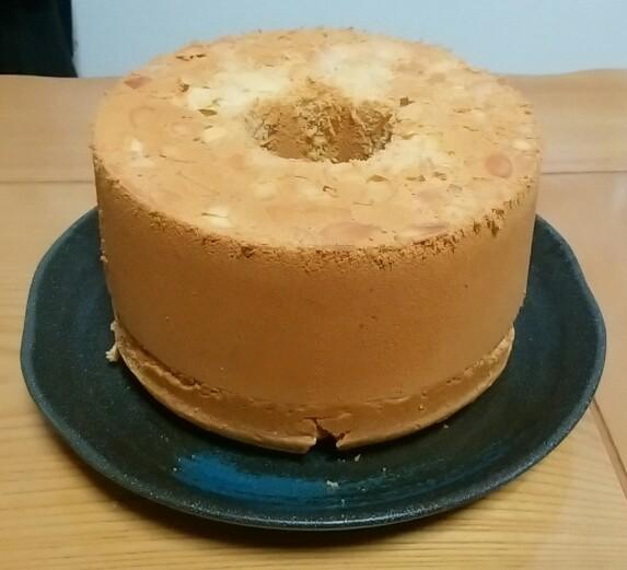 初挑戦!ピーナッツバターのシフォンケーキ