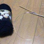 黒のガンジーセーター-1【編みものともだち】