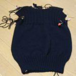 黒のガンジーセーター-2【編みものともだち】