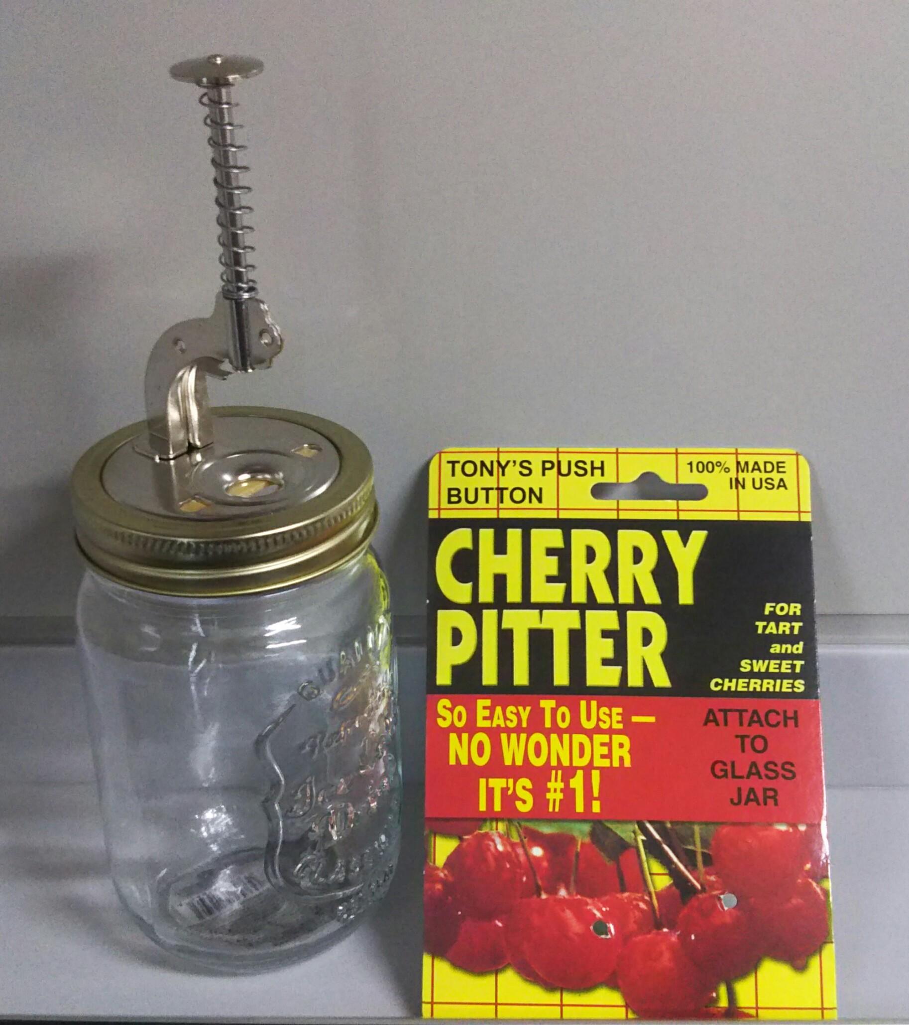 念願のチェリーピッター購入!100均のガラス瓶も合わせて買いました