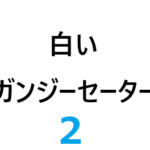 白いガンジーセーター 2-3【編みもの修学旅行】