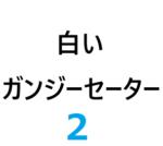 白いガンジーセーター 2-4【編みもの修学旅行】