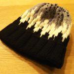 100均アクリル毛糸でノルディックのポンポン帽を編みました【ミクニッツ小物編】
