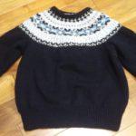 黒フェアアイルヨークのセーター【編みものワードローブ】